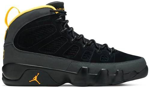 Tênis Nike Air Jordan 9 Retro - Dark Charcoal University Gold