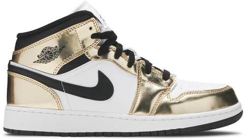Tênis Nike Air Jordan 1 Mid - Metallic Gold