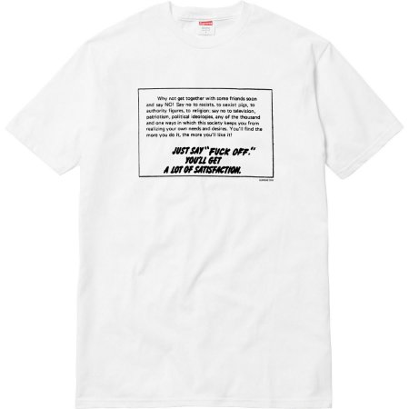 Camiseta Supreme Just Say Fuck Off