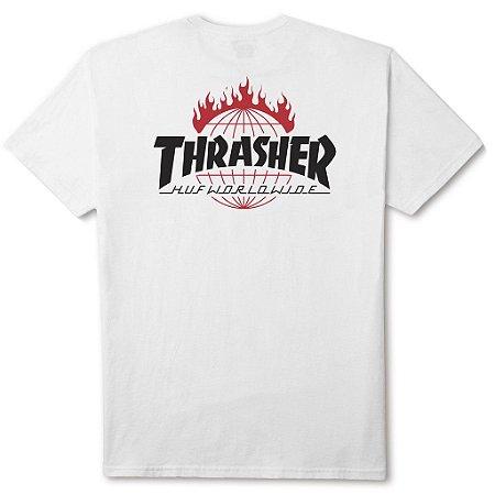 Camiseta HUF x Thrasher TDS White