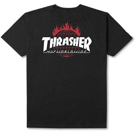 Camiseta HUF x Thrasher TDS Black