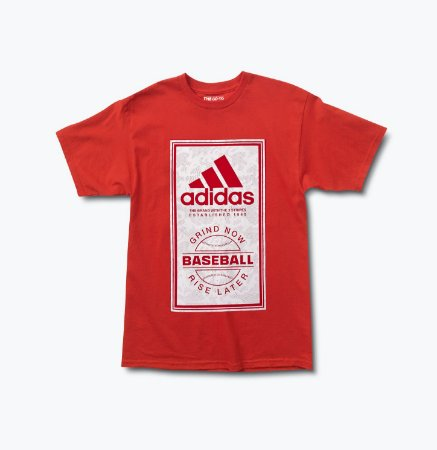 Camiseta Adidas Baseball Grind Now Rise Late