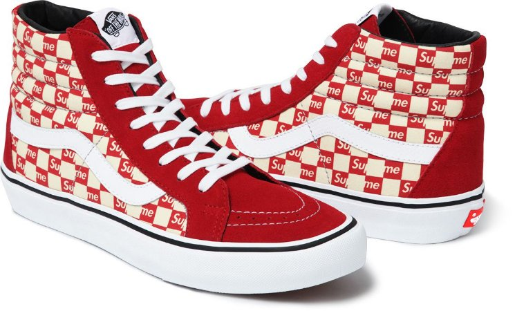 Tênis Supreme x Vans Sk8-Hi Red