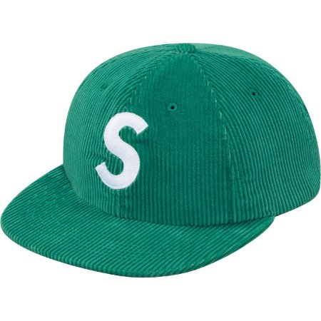 Boné 6 Panel Supreme Corduroy S Logo - Green