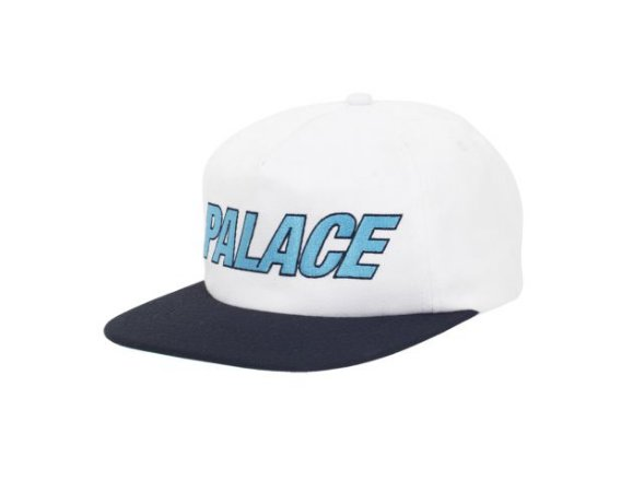 Boné 5-Panel Palace Font - White/Black