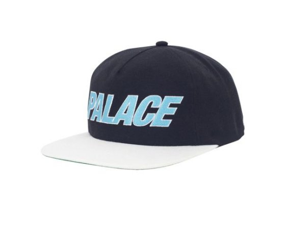 Boné 5-Panel Palace Font - Black/White