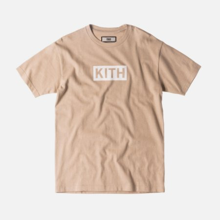Camiseta KITH Box Logo - Sand