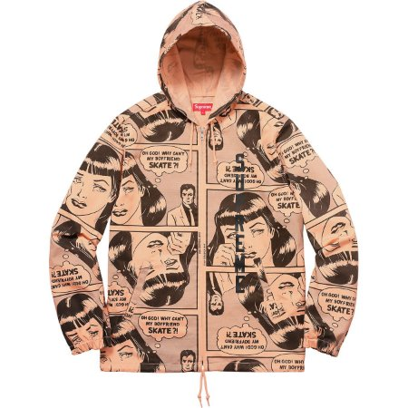 Moletom Supreme x Thrasher® Boyfriend Hooded Zip Up Jacket Orange