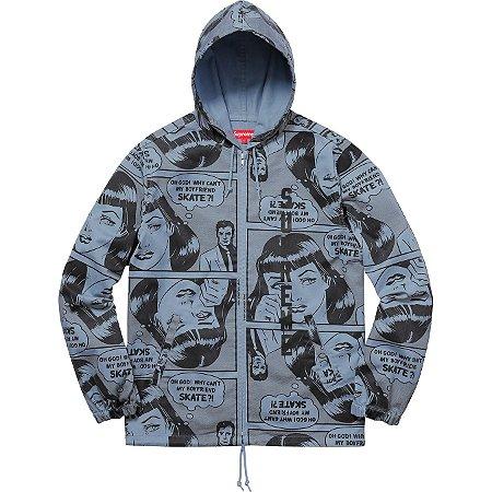 Moletom Supreme x Thrasher® Boyfriend Hooded Zip Up Jacket Blue