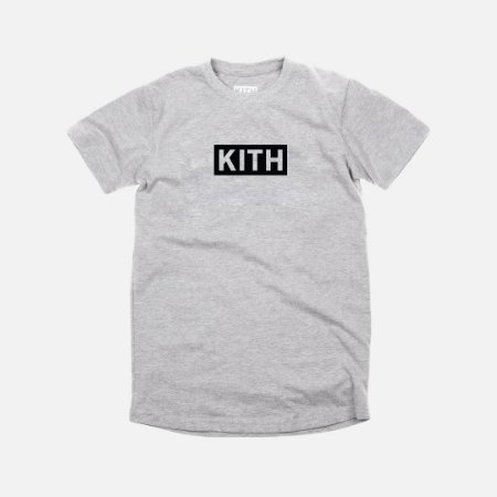 Camiseta KITH Box Logo - Grey