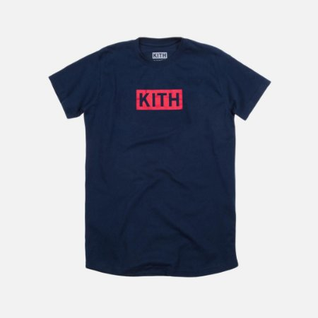 Camiseta KITH Box Logo - Navy