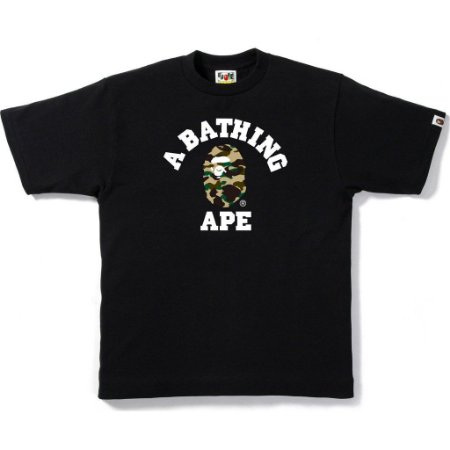 Camiseta Bape 1ST Camo College Mens Black