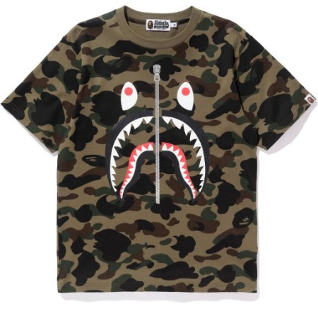 Camiseta Bape 1ST Camo Shark Mens
