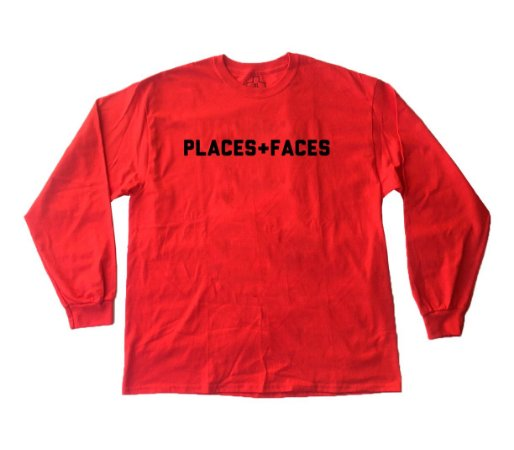 Long Sleeve Places+Faces - Red