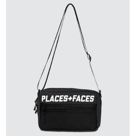 Places+Faces Refletive Pouch Bag - Black
