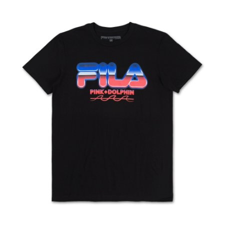 Camiseta FILA® x Pink Dolphin Chrome - Black
