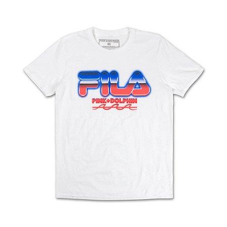 Camiseta FILA® x Pink Dolphin Chrome - White