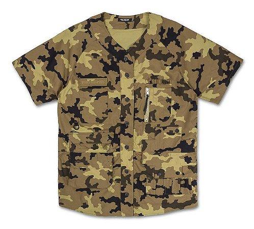 Jersey Pink Dolphin Tactical Overshirt - Camo