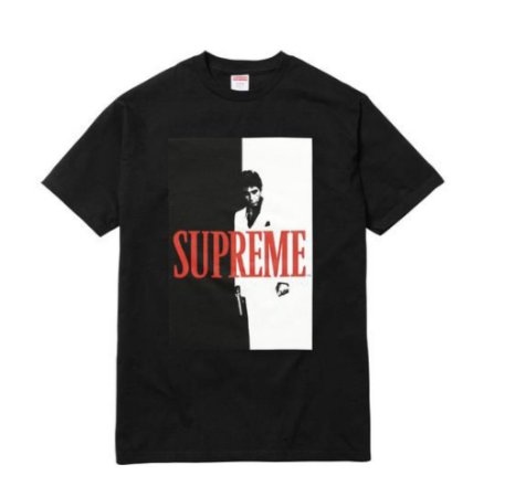 Camiseta Supreme x Scarface - Black