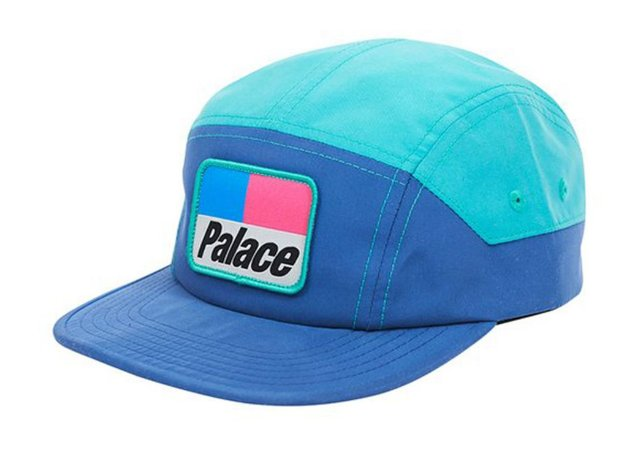 Boné 5 Panel Palace Teal Holiday - Blue Shell