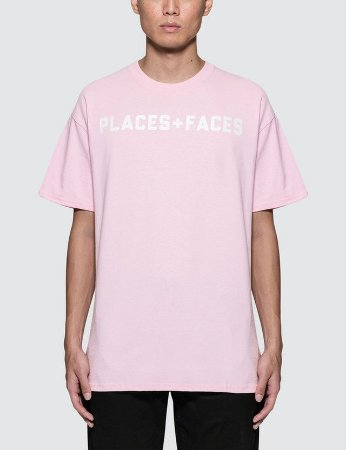 Camiseta Places+Faces Logo - Pink
