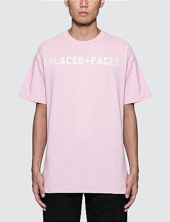 Camiseta Places+Faces Logo - Pink