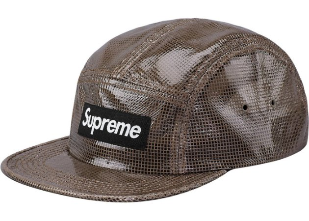 Boné 5-Panel Supreme Laminated Box Weave