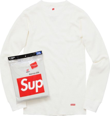Supreme Hanes Thermal Crew  - White (1 Unidade)