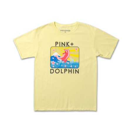Camiseta Pink Dolphin Blossom Portrait - Yellow