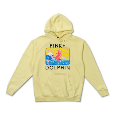 Moletom Pink Dolphin Blossom Portrait Hoodie - Yellow