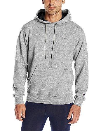 Moletom Champion Powerblend Fleece Pullover Hoodie - Grey