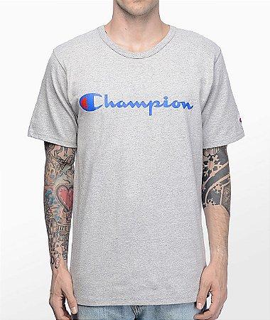 Camiseta Champion Script Heather - Grey