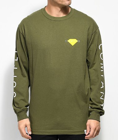Camiseta Diamond Solid Long Sleeve - Olive