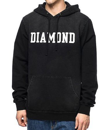 Moletom Diamond Drexel Washed - Black