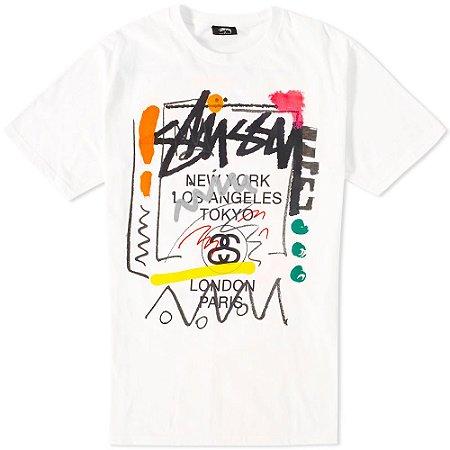 Camiseta Stussy WT Doodle (2014) - White