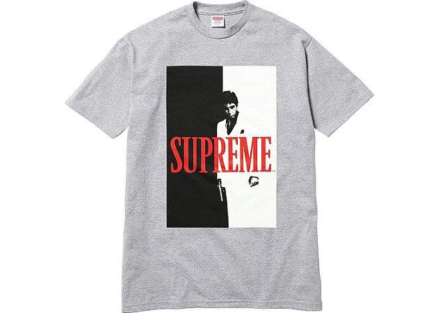 Camiseta Supreme Scarface Split Heather - Grey