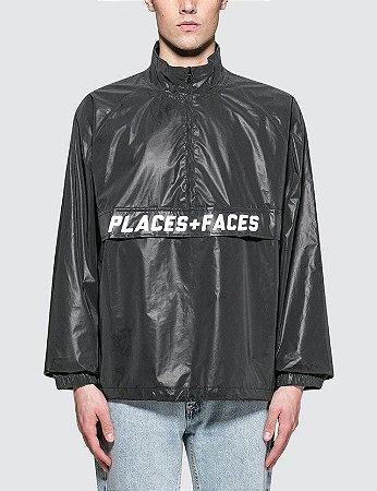 Jaqueta Places+Faces Reflective Zip Up - Black