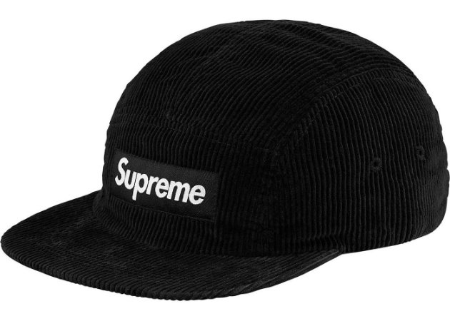 Boné 5-Panel Supreme Corduroy - Black