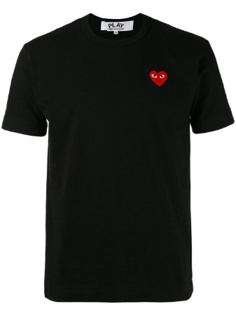 Camiseta Comme des Garcons Play Basic Logo - Black