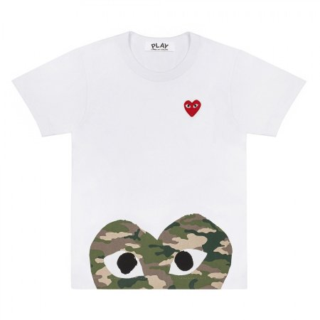 Camiseta Comme des Garcons Play Heart - White