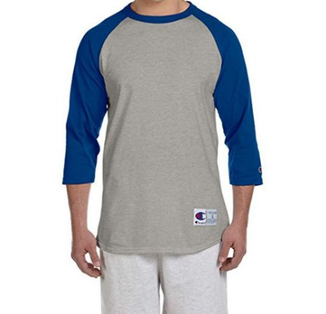 Camiseta Champion Raglan Baseball - Grey/Blue