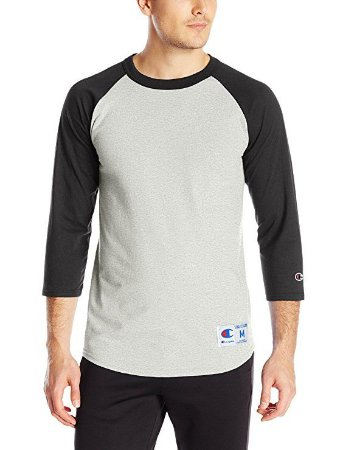 Camiseta Champion Raglan Baseball - Grey/Black