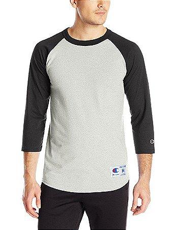 Camiseta Champion Raglan Baseball - Grey/Black