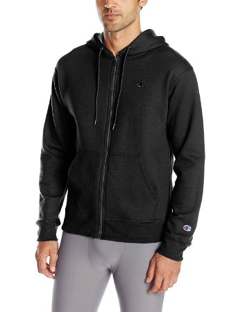 Moletom Champion Powerblend Fleece Full-Zip - Black