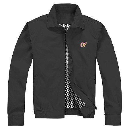 Jaqueta ODD Future Embroidered Classic Logo - Black