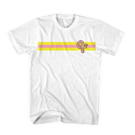 Camiseta ODD Future OF Donut Stripe - White