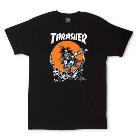 Camiseta Thrasher Skate Outlaw - Black