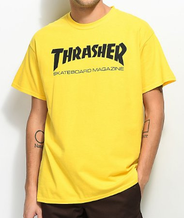Camiseta Thrasher Skate Mag - Yellow