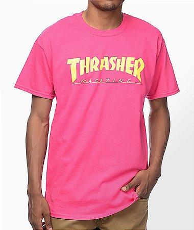 Camiseta Thrasher Magazine Logo - Pink