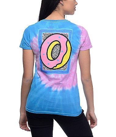 Camiseta Odd Future Neon Razz Wave Pink & Blue Tie Dye